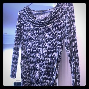 Rose and olive 3 quarter sleeve Blouse size small